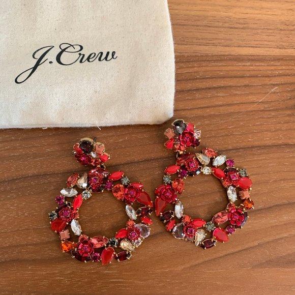 J.Crew Crystal Circle Statement Earrings